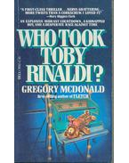 Who Took Toby Rinaldi?