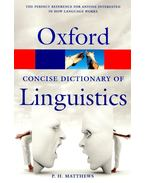The Oxford Concise Dictionary of Linguistics