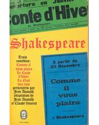 Trois Comédies - Comme il vous plaira, Le Conte d'hiver, La Nuit des Rois