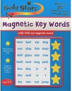 Gold Stars Magnetic Key Words with fold-out magnetic board: ages 4-5