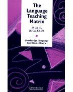 The Language Teaching Matrix: Curriculum, Methodology, and Materials