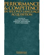 Performance and Competence in Second Language Acquisition