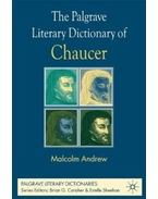 The Palgrave Literary Dictionary of Chaucer