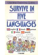 Survive in Five Languages - English, French, German, Italian, Spanish