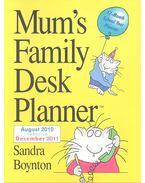 Mum's Family Desk Planner 2011