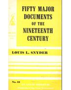 Fifty Major Documents of the Nineteenth Century #10