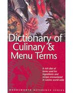 Dictionary of Culinary & Menu Terms