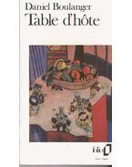 Table d´hôte - BOULANGER, DANIEL