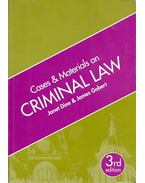 Cases and Materials on Criminal Law - 3rd edition