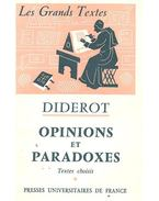 Opinions et Paradoxes