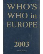 Who's Who in Europe