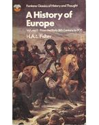A History of Europe vol 2: From the Early 18th Century to 1935