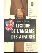Lexique de l'anglais des affaires