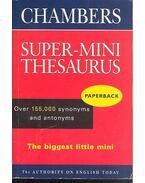 Chambers Super-Mini Thesaurus