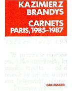 Carnets Paris, 1985-1987