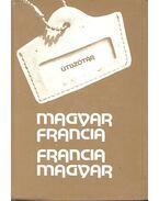 Útiszótár francia-magyar/magyar-francia