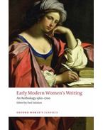 Early Modern Women's Writing