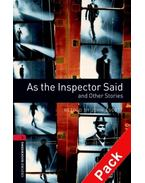 As the Inspector Said and Other Stories Audio CD Pack - Stage 3
