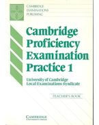 Cambridge Proficienty Examination Practice 1 - Teacher's Book