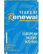 European History 1470-1600