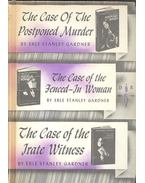The Case of the Postponed Murder; The Case of the Fenced-In Woman; The Case of the Irate Witness