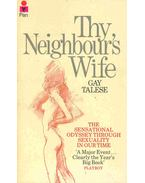 Thy Neighbour's Wife - Talese, Gay