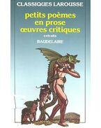 Petits poèmes en prose œuvres critiques