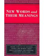 New Words and their Meanings