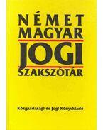 Német-magyar jogi szakszótár