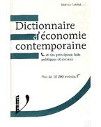 Dictionnaire d'économie contemporaine