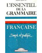 L'essentiel de la grammaire francaise