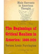 The Beginnings of Critical Realism in America : 1860-1920