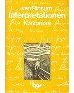 Interpretationen  - Kurzprosa
