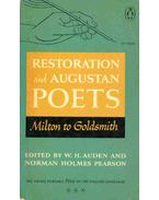 Restoration and Augustan Poets - Milton to Goldsmith