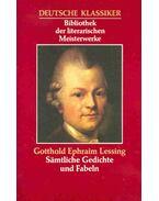 Sämtliche Gedichte und Fabeln - Lessing, Gotthold Ephraim