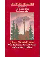Von deutscher Art und Kunst und andere Schriften