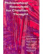 Philosophical Resources for Christian Thought