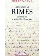 Dictionnaire de rimes et traité de versification francaise