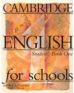 Cambridge English for Schools - Student's Book 1