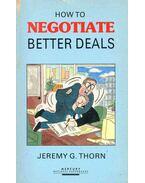 How to Negotiate Better Deals