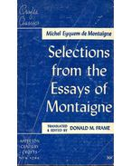 Selection from the Essays of Montaigne