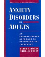 Anxiety Disorders in Adults – An Evidence-Based Psychological Treatment