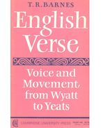 English Verse – Voice and Movement from Wyatt to Yeats