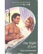 One Night of love - Wentworth, Sally