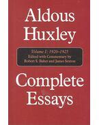 Aldous Huxley Complete Essays – Vol. I. 1920-1925
