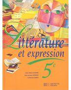 Littérature et expression 5e
