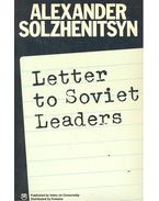 Letter to Soviet Leaders