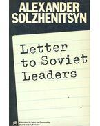 Letter to Soviet Leaders