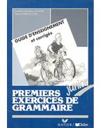 Premierx exercices de grammaire – Junior
