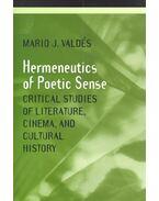 Hermeneutics of Poetic Sense – Critical Studies of Literature, Cinema, and Cultural History